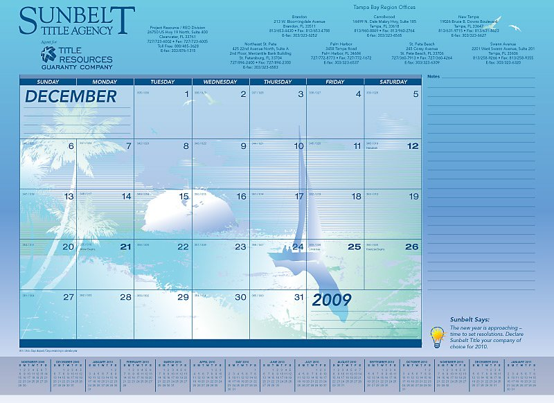 Desk pad calendars are like a free billboard in your client's office all year long