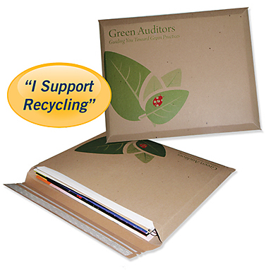 Recycled presentation folders
