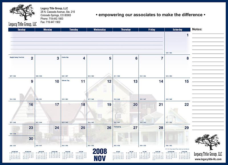 Desk Pad calendars