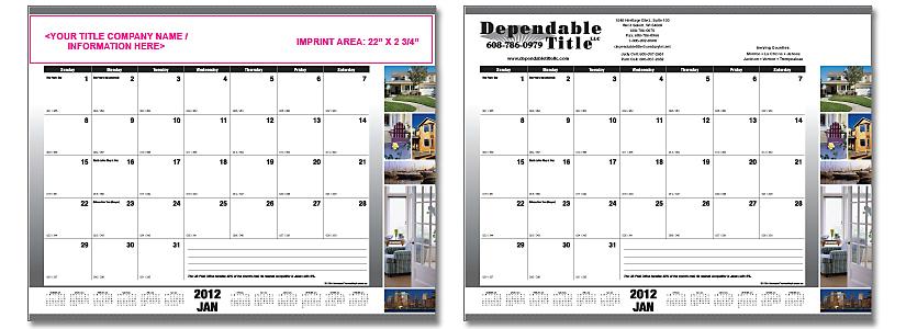 Stewart deskpad calendar