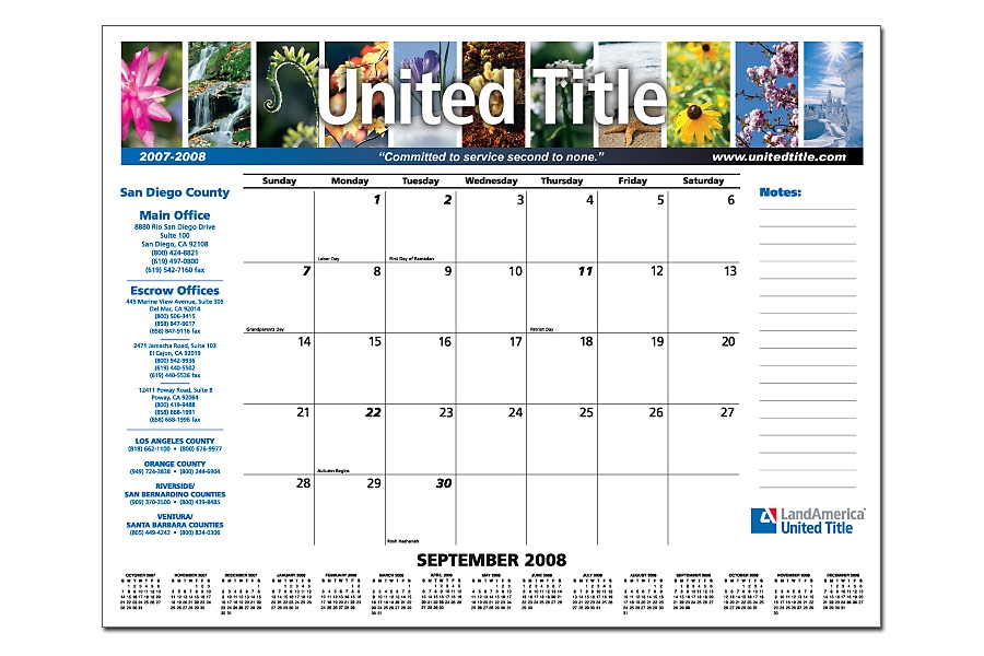 Charmant Smart Title And Settlement Companies Use Desk Pad Calendars To Stay Top Of  Mind
