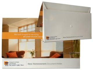 Real Estate Closing Folders